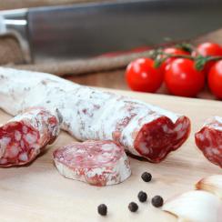 Peeling salami